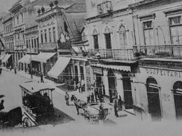 """CPA Postcard Brazil Brasil - SAO PAULO - 1901 Animated Street """"Quinza De Novembre"""" - São Paulo"""