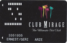 Mirage Casino Las Vegas NV - 6th Issue Slot Card With 1-800-937-4444 Phone# - Casino Cards
