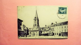 """HONFLEUR   """" LA PLACE ET L'EGLISE Ste CATHERINE """" ECRITE ET VOYAGEE 1914. - Honfleur"""