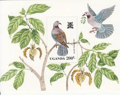 1982 Uganda Birds Oiseaux Dove  Souvenir Sheet MNH - Uganda (1962-...)