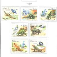 Cuba  PO 1985 Dinosauri   Scott.2765/2771 See Scan On Page; - Cuba