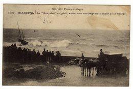Cpa N° 3089 BIARRITZ La Surprise En Péril Avant Son Naufrage Au Rocher De La Vierge - Biarritz