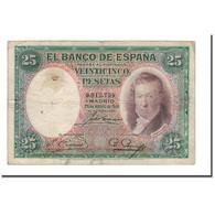 Billet, Espagne, 25 Pesetas, 1931, 1931-04-25, KM:81, B - 25 Pesetas