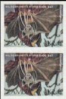ZAMBIA 1989 Bats K2.85 IMPERF.PAIR - Zambia (1965-...)