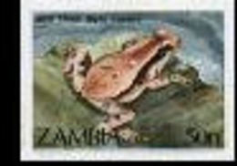 ZAMBIA 1989 Red Toad 50n IMPERF - Zambia (1965-...)