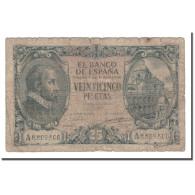 Billet, Espagne, 25 Pesetas, 1943, 1940-01-09, KM:116a, B - [ 3] 1936-1975 : Regency Of Franco