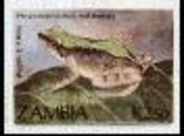 ZAMBIA 1989 Puddle Frog K2.50 IMPERF - Zambia (1965-...)