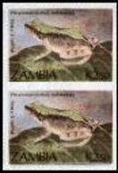 ZAMBIA 1989 Puddle Frog K2.50 IMPERF.PAIR - Zambia (1965-...)