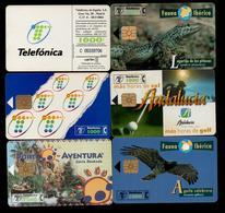 OFERTA - LOTE 6 TARJETAS TELEFONICAS DIFERENTES - INCLUYE FAUNA IBERICA - Spain