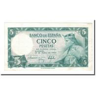 Billet, Espagne, 5 Pesetas, 1954, 1954-07-22, KM:146a, TTB+ - 5 Pesetas
