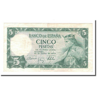 Billet, Espagne, 5 Pesetas, 1954, 1954-07-22, KM:146a, TTB - 5 Pesetas