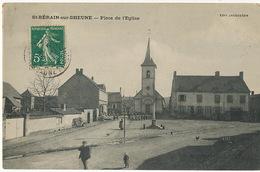 St Berain Sur Dheune Place De L' Eglise  Edit Jacqueson Taxée à St Enemond Allier - France