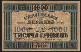 Ukraine 1000 Hryven 1918 Pick 24 AF - Ucraina