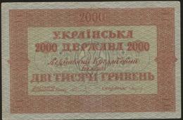 Ukraine 2000 Hryven 1918 Pick 25 AF - Ukraine
