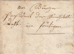 Brief Aus Frütigen - Schweiz, M. Januar4 1801. Bürger - ...-1845 Prephilately