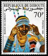 Timbre-poste Neuf Sans Gomme - Élégante Parée De Tous Ses Bijoux - N° 663B (Yvert) - République De Djibouti 1990 - Dschibuti (1977-...)