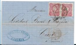 EL138 / Brief, Elsass, Colmar Hufeisenstempel 17.3.77 Auf Paar 10 Pfennige Nach Brest - Germany
