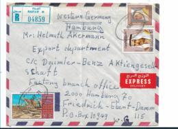 GS007 / Kuweit Nach Hamburg 1971 Auf Einschreiben/Express Von Safat - Kuwait