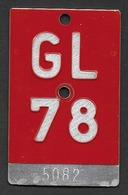 Velonummer Glarus GL 78 - Plaques D'immatriculation