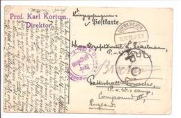 WO1 Kriegsgefangene.POW.Odenkirchen>England.CENSOR - 1. Weltkrieg