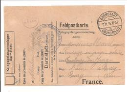 WO1 Kriegsgefangene.POW.Darmstadt Übungsplatz>France - 1. Weltkrieg