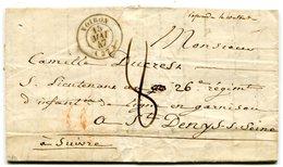 ISERE De VOIRON LAC Du 15/05/1847 Dateur T 15 Et Taxe De 8 Pour ST DENIS/SEINE - Marcophilie (Lettres)