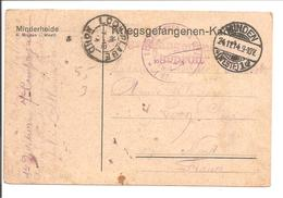 WO1 Kriegsgefangene.POW.Minden>France Loon-Plage 59 - 1. Weltkrieg