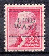 USA Precancel Vorausentwertung Preo, Locals Washington, Lind 701 - Vereinigte Staaten