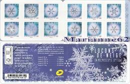 "France 2018 Carnet 12v "" Flocons De Neige En Microscopie Optique "" - Snow Flake Winter - Neuf / MNH - Climat & Météorologie"