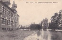Montargis : Ecole Durzy Pendant L'inondation De Mai 1913 - Montargis
