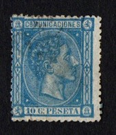 Spain. 1875 King Alfonso XII. 10c. Blue. SC 214. Cancelled - 1875-1882 Königreich: Alphonse XII.