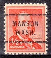 USA Precancel Vorausentwertung Preo, Locals Washington, Manson 712 - Vereinigte Staaten