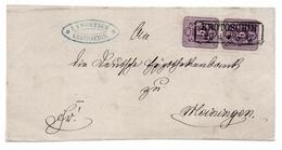 Krotoschin Ca. 1875 Nach Meiningen - Briefvorderseite Mit Michel-Nr. 32 Paar - Deutschland