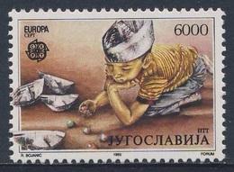 Jugoslavija Yugoslavia 1989 Mi 2341 YT 2223 ** Boy Playing Marbles, Paperboats / Junge Mit Papierschiffchen Und Murmeln - Boten