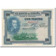 Billet, Espagne, 100 Pesetas, 1925, 1925-07-01, KM:69a, TB+ - [ 1] …-1931 : First Banknotes (Banco De España)