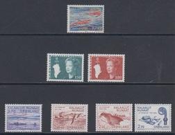 1982 **/(Sans Charn,MNH, Postfris)    Yv. 121/7    Mi. 133/9 (7v.) - Groenland