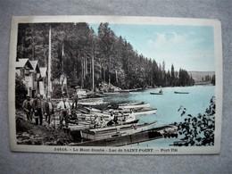 34816 - Haut Doubs 25 Lac De Saint Point - Port Titi - Départ Pour La Pèche - Barque Bateau - France