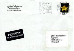 Auslands - Brief Von Briefzentrum 28 Mit 90 Cent Johanniskraut 2018 Werbestempel BZ Bremen - BRD