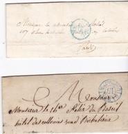 France, Paris - Càd De Taxe N° 2505 Et 2507 Sur LAC De 1839 Et 1841 - Marcophilie (Lettres)