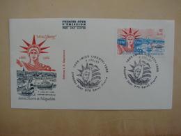 SPM/Saint Pierre Et Miquelon - Enveloppe 1er Jour FDC MISS LIBERTY USA 4/07/1986 (1886-1986) - Lettres & Documents