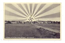 6478 NIDDA - BORSDORF, Dorfansicht, NS-Propaganda - Friedberg