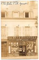 """D58 . CARTE PHOTO  . COSNE Sur LOIRE ."""" AUX ARTS MODERNES """" .  Photo-musique ... - Cosne Cours Sur Loire"""