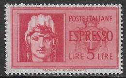 Italia Italy 1944 RSI Imperiale 5val Sa N.491-495 Nuovi MNH/MH **/* - 1944-46 Lieutenance & Humbert II