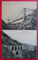 66 Train Jaune Pont Gisclard La Cabanasse Cerdagne 6 Cartes Gigantesques Monumentales Catalunya RARE - Frankreich