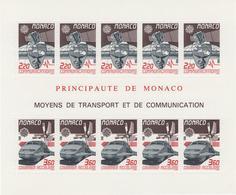 BLOC MONACO 1988 MOYENS DE TRANSPORT - Trains