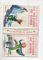 PATRICIA LYNCH LA VICTOIRE DE KORIK  BIBLIOTHEQUE ROSE HACHETTE   UNIQUEMENT LA JAQUETTE - Bibliothèque Rose