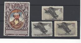 ERINNOPHILIE Cinderella Stamp X 4 COMMANDER SAMSON + ROYAL FLYING CORPS WW1 /FREE SHIP. R - Cinderellas