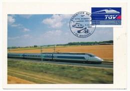 FRANCE - Carte Maximum - TGV - Exposition Du Rail - 43 BRIOUDE 5 Octobre 1990 - 1990-99