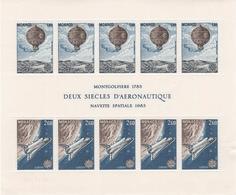 BLOC MONACO 1983 MONTGOLFIERE ET NAVETTE SPATIALE - Other