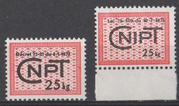 Fiscaux 1973-75; Y&T N° 8  & 9; CNPT 25Kg, Neuf **; Décret Du 4.1.1973 & Loi Du 10-07-1975. Très Forte Cote! - Fiscaux